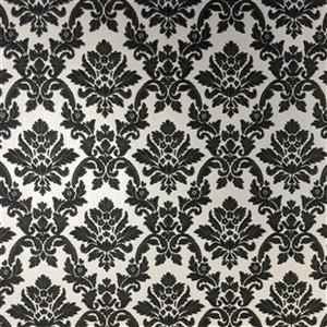 Graham & Brown 56 sq ft Black White Renaissance Damask Unpasted Wallpaper