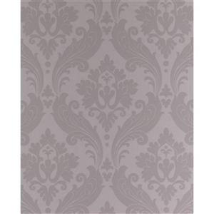 Graham & Brown Kelly Hoppen 56 sq ft Soft Grey Vintage Flock Unpasted Wallpaper