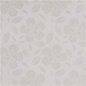 Graham & Brown 56 sq ft White/Mica Pearl Renee Unpasted Wallpaper