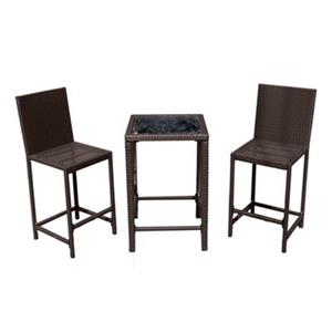 AZ Patio Heaters 3-Piece Bar Height Wicker Bistro Set
