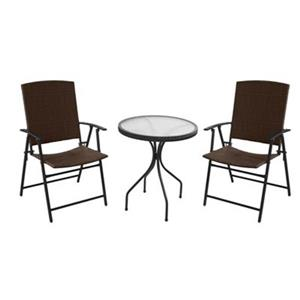 AZ Patio Heater Outdoor 3-Piece Wicker Bistro Set