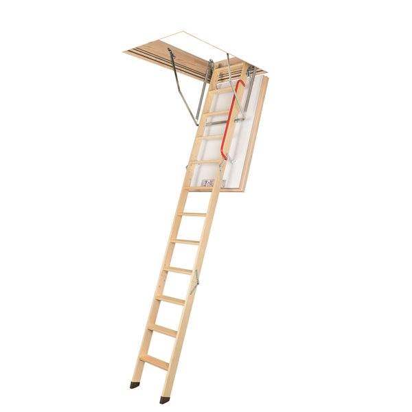 Fakro 10-ft x 25-ft Wooden Attic Ladder