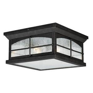 Cascadia Lighting Bembridge Gold Stone 2-Light Outdoor Ceiling Light