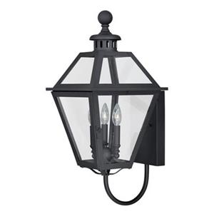 Cascadia Nottingham 3-Light Black Outdoor Wall Lantern