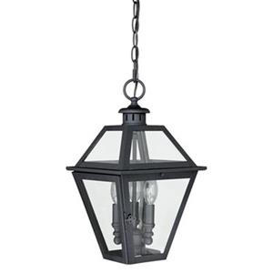 Cascadia Nottingham 3-Light Black Outdoor Pendant Light