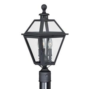 Vaxcel Lighting Cascadia Nottingham 3-Light Textured Black Outdoor Post Light