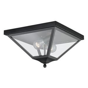 Cascadia Lighting Nottingham Black 2-Light Outdoor Ceiling Light