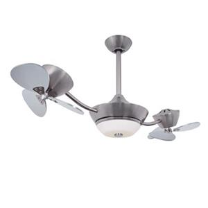 Cascadia Lighting Eclipse II 42-in Silver/Nickel DC Ceiling Fan