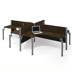 Bestar 100859A-6 Pro-Biz Four L-Desk Workstation,100859A-69