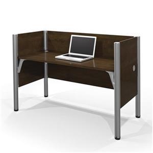 Bestar Pro-Biz 43-in x 62.50-in Chocolate Brown Simple Workstation