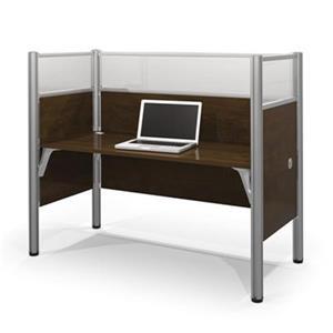 Bestar Pro-Biz 55.50-in x 62.50-in Chocolate Brown Simple Workstation