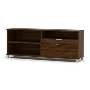 Bestar Pro-Linea 28.40-in x 70.10-in Oak Barrel 2 Drawer Credenza
