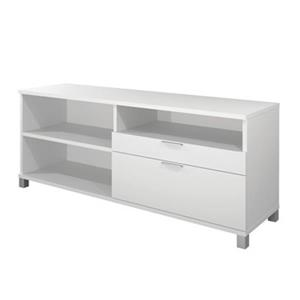 Bestar Pro-Linea 28.40-in x 70.10-in White 2 Drawer Credenza