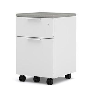 Bestar Pro-Linea 24.5-in x 15.4-in White Assembled Mobile Pedestal