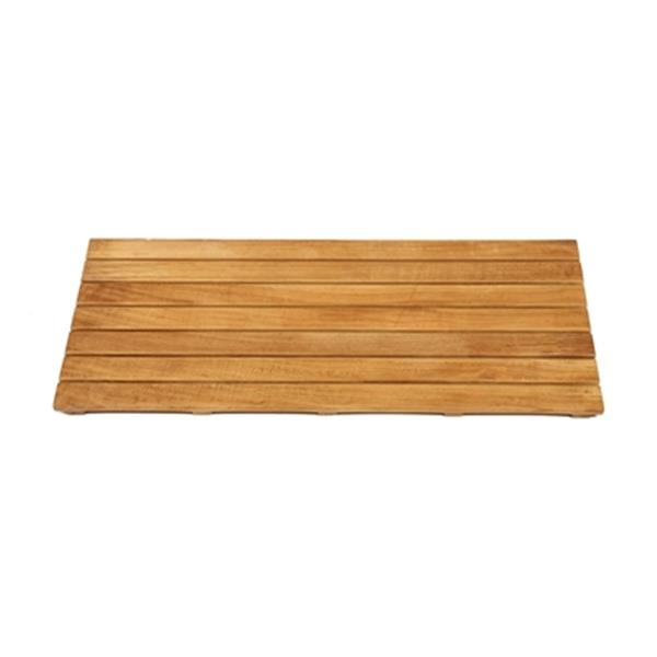 "ARB Teak & Specialties Shower Mat - 32"" x 14"" - Teak - Brown"