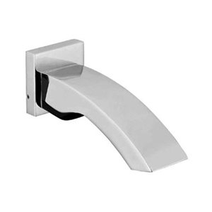 ALFI Brand Brushed Nickel Curved Wall Mounted Tub Filler Bathroom Spout