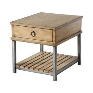 Stein World Beaumont 23-in x 27-in x 24-in Withered Oak End Table