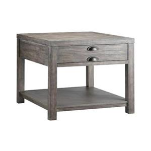 Stein World Bridgeport 23-in x 26-in x 25-in Weathered Grey Rectangular End Table