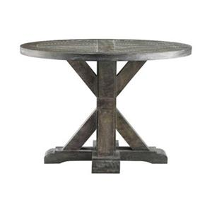 Stein World Bridgeport 22-in x 26-in Weathered Grey Round End Table