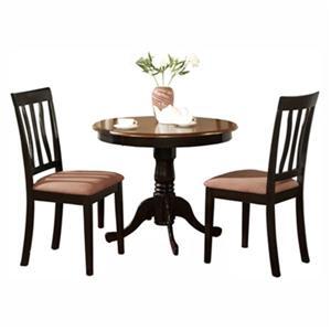 East West Furniture Antique Black 3-Piece Dining Set