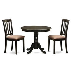 East West Furniture Antique Cappuccino 3-Piece Dining Set