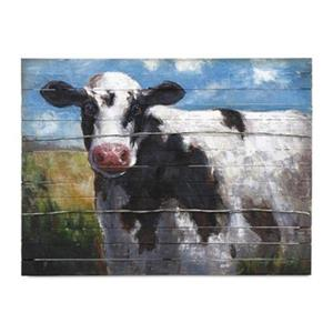 IMAX Worldwide 30-in x 40-in Ella Elaine Lester Cow Oil Painting