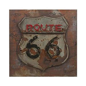 IMAX Worldwide 31.50-in x 31.50-in Route 66 Dimensional Metal Art