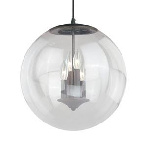 Cascadia Lighting 630 Series Collection 15.75-in x 16.75-in Black Iron Globe 4-Light Foyer Light