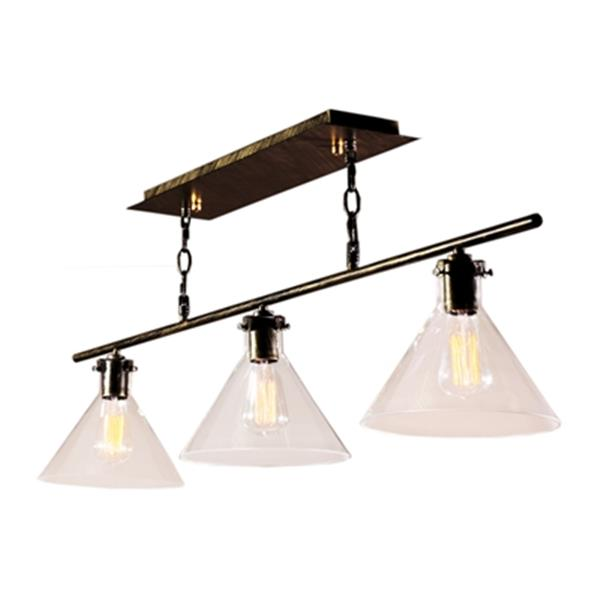 Warehouse of Tiffany Amerie 3-Light Kitchen Island Light