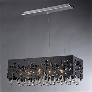 Warehouse of Tiffany Apollon Black Shaded 6-Light Kitchen Island Light