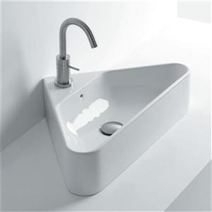 WS Bath Collections Vessel 16.5-in x 16.5-in Ceramic White Bathroom Sink