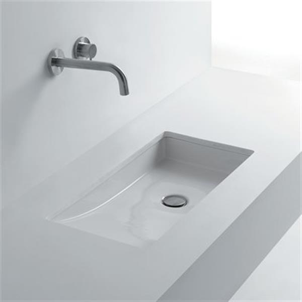 Ws Bath Collections Whitestone 26 8 In X 14 6 In Rectangle Undermount Bathroom Sink Rona
