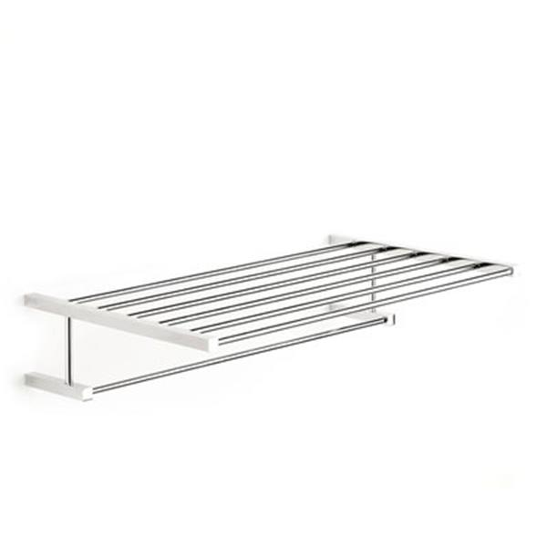 WS Bath Collections Iceberg 11.8-in x 20.2-in x 5-in Chromed Brass Towel Rack