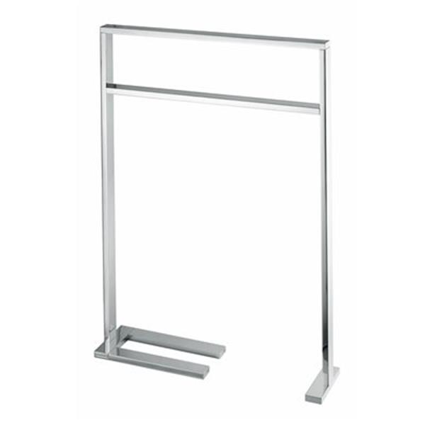 WS Bath Collections Demetra 32.70-in Polished Chrome Free-Standing Towel Bar