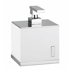 WS Bath Collections Demetra 6.30-in Chrome/White Soap Dispenser