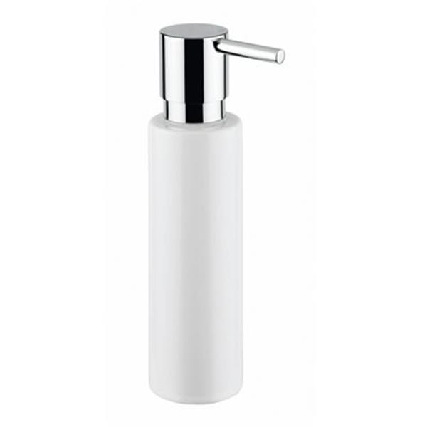 WS Bath Collections 7.90-in White Shot Soap Dispenser