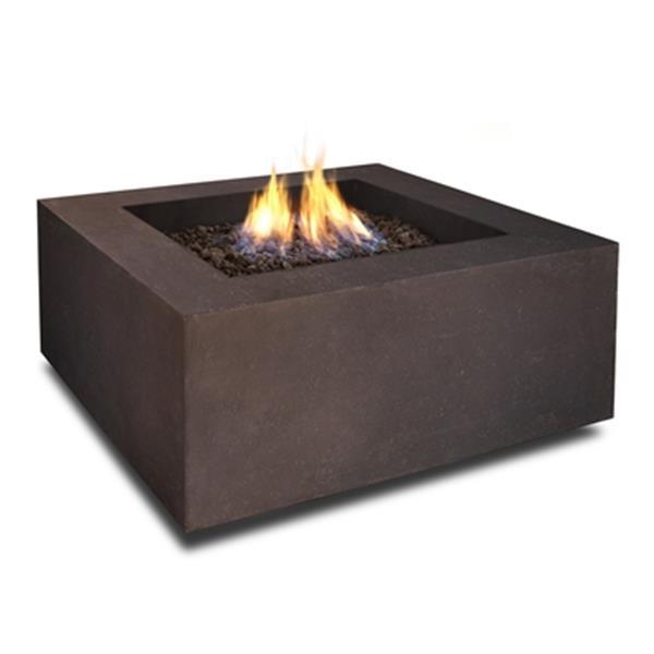 "Baltic Natural Gas Fire Table- 24"" x 24"" x 4"" - Kodiak Brown"