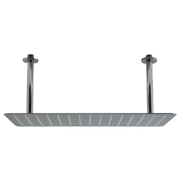 ALFI Brand 20-in Solid Polished Stainless Steel Rectangular Ultra Thin Rain Shower Head