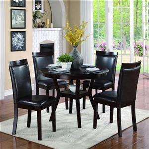 Homelegance Shankmen Dark Brown 5-Piece Dining Set