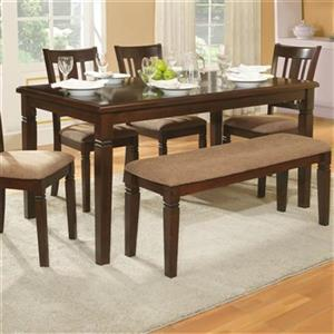 Homelegance Devlin 60-in x 36-in x 30-in Espresso Wood Veneer Dining Table