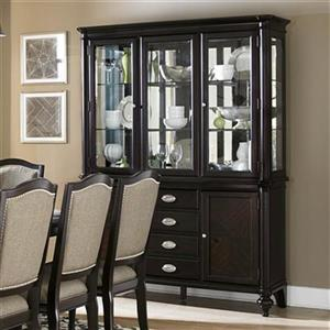 Homelegance Marston 80.25-in x 60.25-in Brown Buffet With Hutch