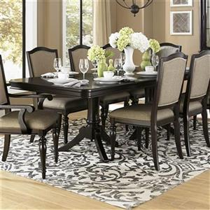 Homelegance Marston 76-in x 42-in x 30-in Dark Cherry Dining Table with 20-in Leaf