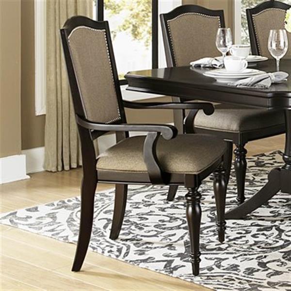Homelegance Marston 41.5-in x 25-in Dark Cherry Arm Chair (Set of 2)