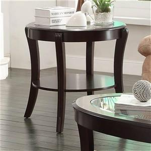 Homelegance Pierre 27-in x 24-in Espresso End Table