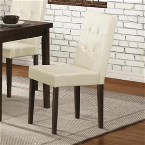 Homelegance Ahmet 35.75-in x 17.5-in White Dining Chair (Set of 2)