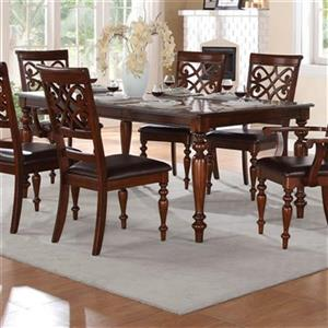 Homelegance Creswell 60-in x 42-in x 30-in Rich Cherry Dining Table with 13-in Leaf