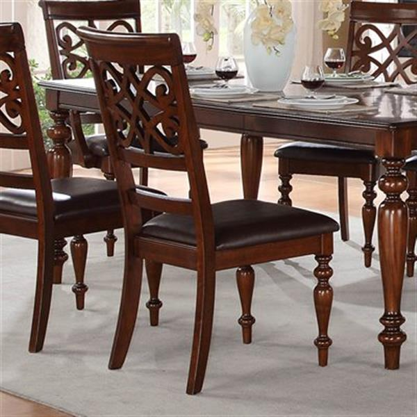 """Homelegance Creswell Dining Chair - 41"""" x 19.5"""" - Cherry Brown - Set of 2"""