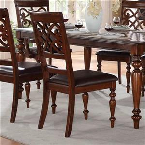 "Chaise de salle à manger Creswell, 41"" x 19,5"", brun riche, ensemble de 2"