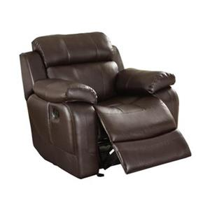 Homelegance Marille Dark Brown Glider Reclining Chair