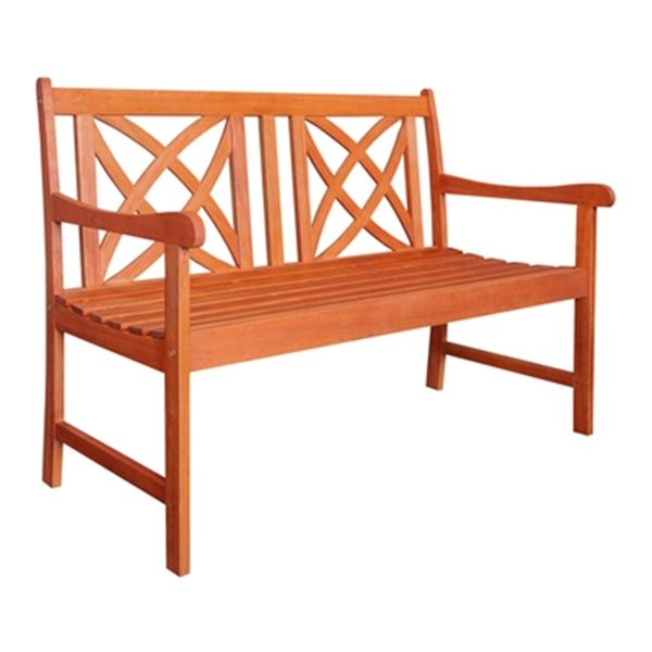 Vifah Malibu 4-Ft Wood Outdoor Garden Bench
